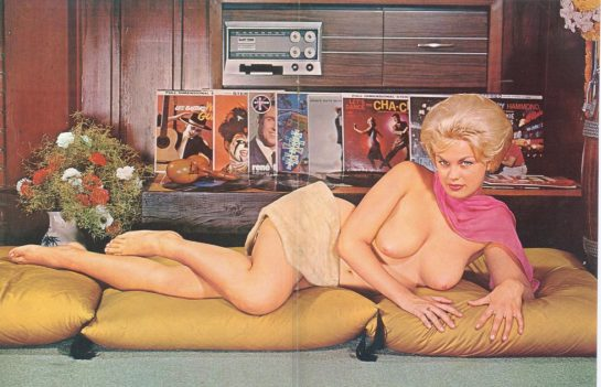 Naked lady with records 1962