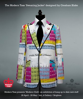 Modern Toss Periodic Table of Swearing Jacket