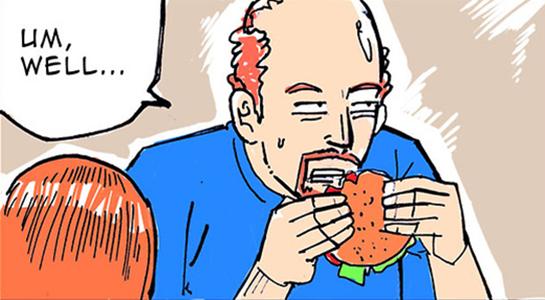 Louis CK comic by Jaeil Cho