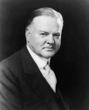 Herbert Hoover, who was not a bad dresser. But as president? A disaster!
