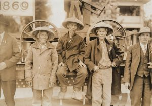 Chinese railroad workers. Great hats!