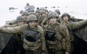 A rare color photograph of American soldiers at Normandy in WWII. Heroes! I salute their service.